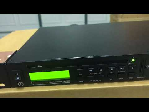RCF MS1033 CD, SD, MP3, USB, AM, FM player Overview