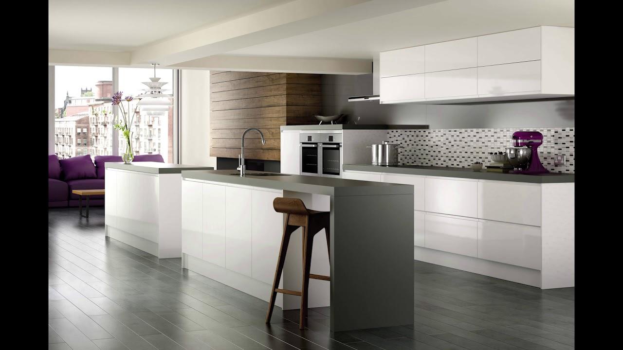 White Kitchen Black Worktop Youtube