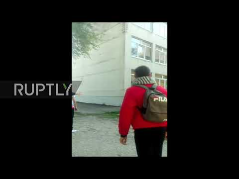 Russia: HEAR moment of shooting as Kerch college attack unfolds *EXCLUSIVE*