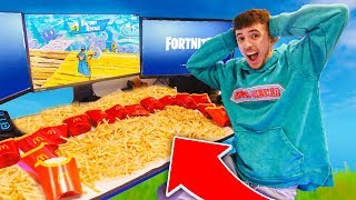 Every Elimination I order McDonald's FRIES in Fortnite...