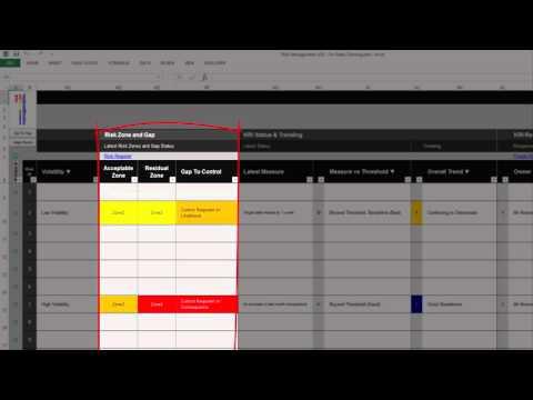 Risk Template in Excel | KRI Register Overview