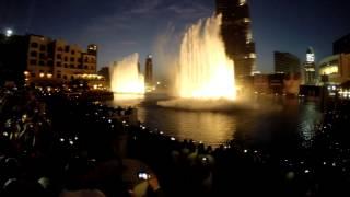 Танцующие фонтаны Дубай - Fountain in Dubai (GOOD VIEW) HD
