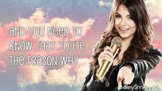 Victorious Cast ft. Victoria Justice - You're The Reason (Acoustic) (with lyrics)