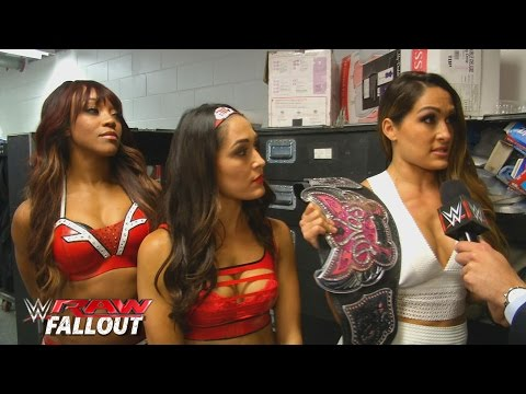 Nikki Bella comments on Charlotte becoming the No. 1 Contender: Raw Fallout, Aug. 31, 2015
