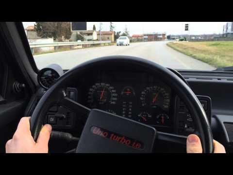 Prova accelerazione Fiat Uno turbo mk1