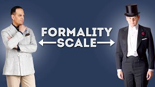The Formality Scale: How Men's Clothes Rank From Formal To Informal