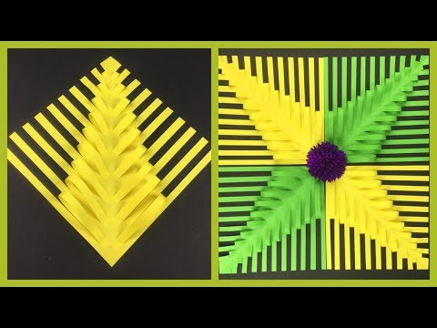 3D Paper Leaves Making | Easy Paper Crafts For Kids | Paper Star