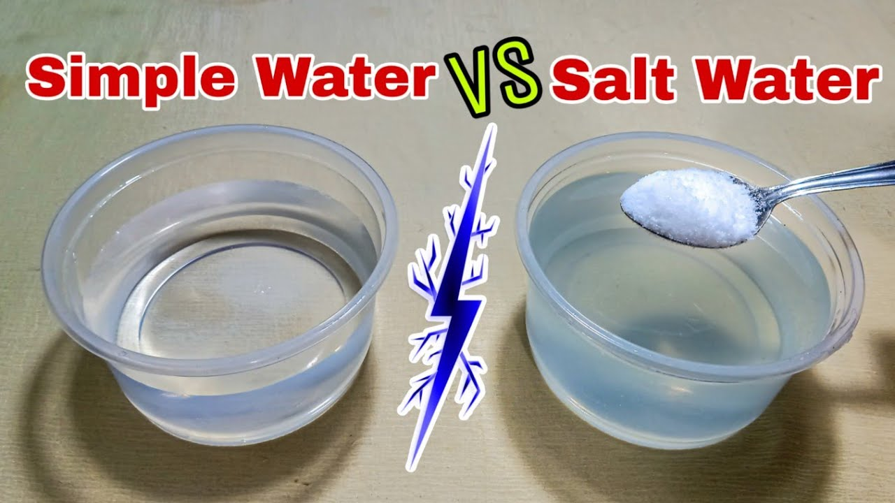 Simple Water Vs Salt Water Solution Conductivity Test | Awesome Science Project