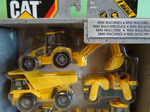 CAT Mini Machines With PLAY-DOH