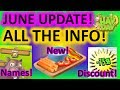 HAY DAY JUNE UPDATE INFO! NEW CROPS, HOOD TAGS, BUYBACKS, NAMING PETS, NEW PRODUCTS, BLOSSOM DERBY…