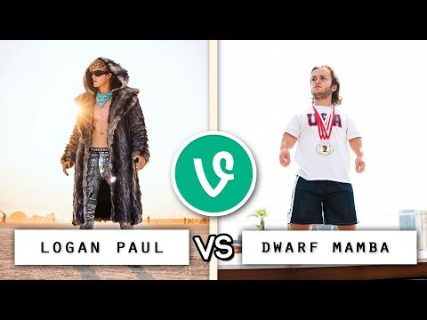 Thumbnail: Logan Paul vs Dwarf Mamba Vine Battle 🔥🥊 / Who's the Best