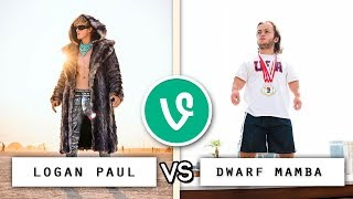 Logan Paul vs Dwarf Mamba Vine Battle 🔥🥊 / Who
