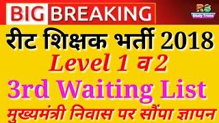 Reet level 1&2 latest news, 3rd waiting list की मांग। मुख्यमंत्री को आवास पर सौंपा ज्ञापन। #reet