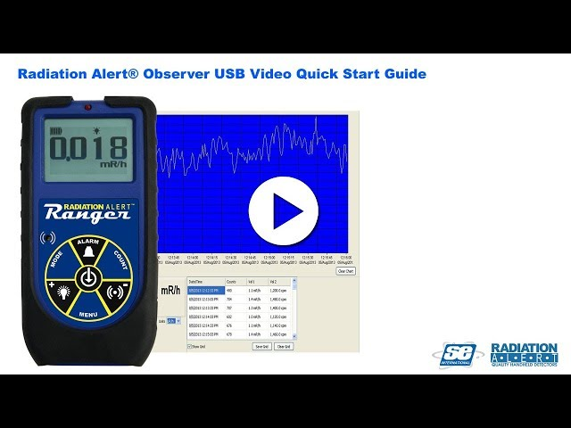 The Radiation Alert® Support - Observer USB Software Video Operation Manual
