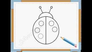 BÉ HỌA SĨ - Thực hành tập vẽ 23: Vẽ con cánh cam