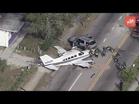 Terrifying Moment : Plane crashes on A Busy Road in Florida!!   YOYO Times