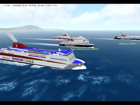 Virtual Sailor....Hellenic Seaways+Minoan Lines In Action