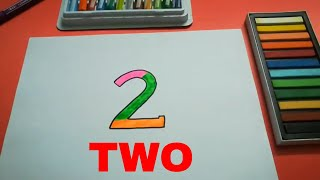 HOW TO DRAW TWO 2 FOR KIDS STEP BY STEP l DRAWING TWO EASY