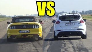 FORD FOCUS RS vs FORD MUSTANG GT  🚀SOUND BATTLE🚀