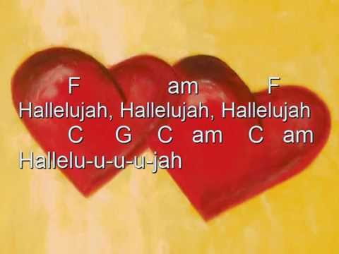 Hallelujah Karaoke Chords Cover Leonard Cohen Youtube