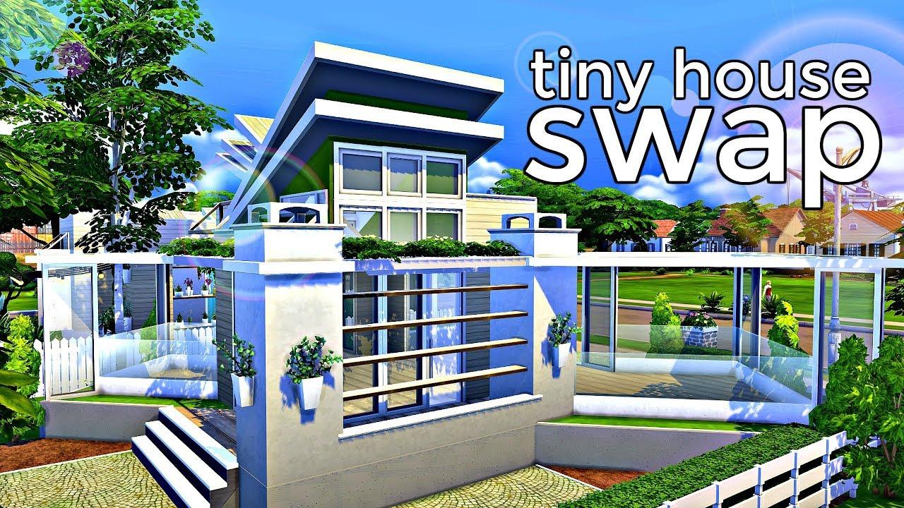 The Sims 4 Tiny House Swap W Lukey Speed Build Youtube