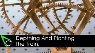 How To Make A Clock In The Home Machine Shop - Part 13 - Depthing And Planting The Train