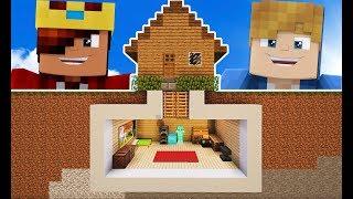 Minecraft Construção: COMO FAZER UMA CASA SUBTERRÂNEA