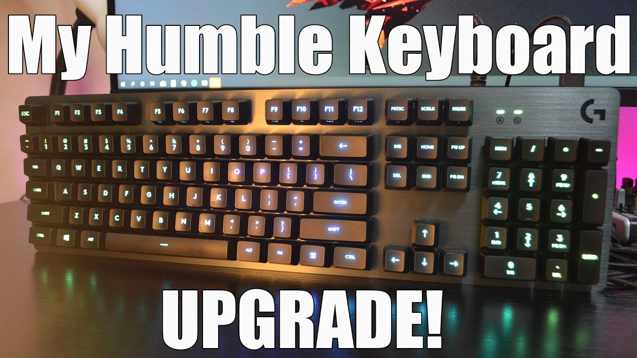 From Chiclet keys to mechanical keyboard! Logitech G512 carbon linear  switch review