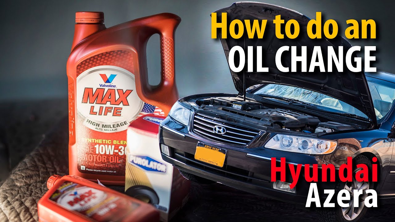 How to do an Oil change on a Hyundai Azera 38L 33L engine  YouTube