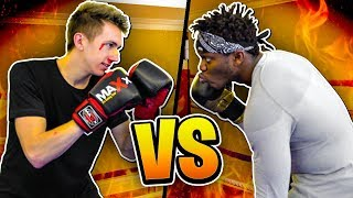 BOXING KSI IN THE SIDEMEN HOUSE!