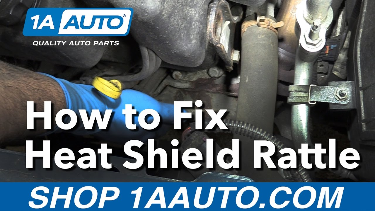 How to Fix a Manifold or Exhaust Heat Shield Rattle - YouTube