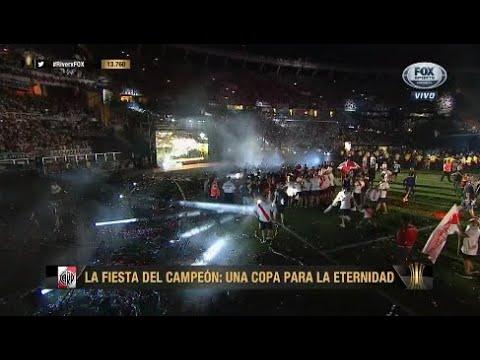 LOS FESTEJOS DE RIVER CAMPEON DE AMERICA + GOL DEL PITY MARTINEZ FULL HD