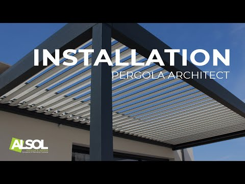 Installation d'une Pergola Bioclimatique Architect