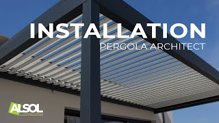 Installation d'une Pergola Bioclimatique Architect