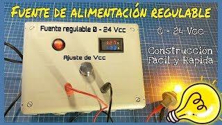 CÓMO HACER UNA FUENTE DE ALIMENTACIÓN REGULABLE 0-24 Vcc 4.5 A