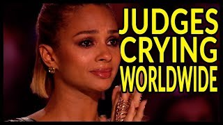 "Top 10 ""WHEN JUDGES STARTS to CRY on GOT TALENT WORLD!"