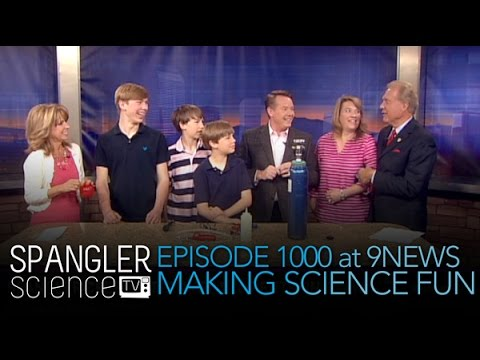 Episode 1000 at 9News Making Science Fun - Cool Science Experiment