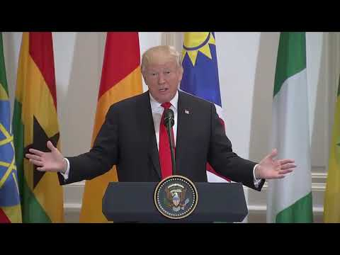 Political Forum G50 :  Trump hosts a luncheon with Pres. Buhari and other African leaders at the UN