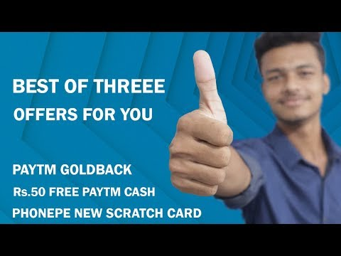 Paytm Goldback Offer, Phonepe New Scratch Card Offer, Best Online Offers 2019