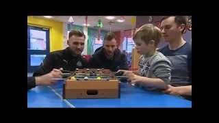 ITV Tyne Tees - Northumbria Healthcare - Newcastle United visit North Tyneside General Hospital