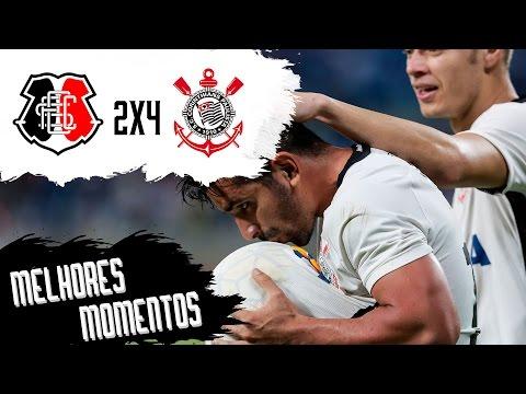 Santa Cruz 2x4 Corinthians - Melhores Momentos - Campeonato Brasileiro 2016