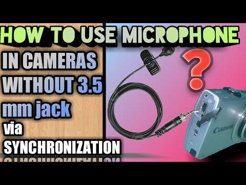 How to use MICROPHONE in CAMERAS without 3.5 mm jack | WIZON WORLD |