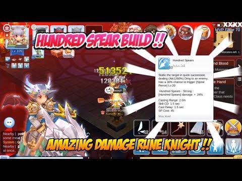 Ragnarok M Eternal Love : Rune Knight Hundred Spear Build For MVP ! Amazing Damage !