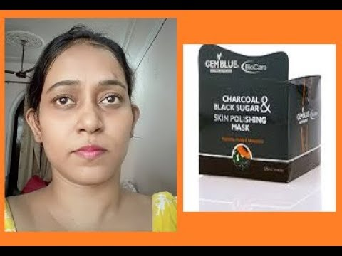 BIOCARE CHARCOAL & BLACK SUGAR SKIN POLISHING MASK / INDIAN