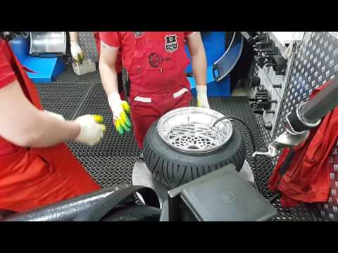 Tire Stretching Honda Ruckus Wheel