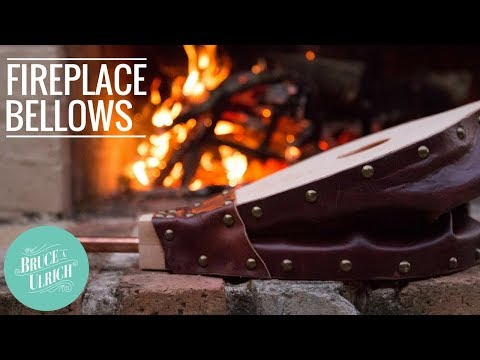 How to Make A Fireplace Bellows // Wood and Leather