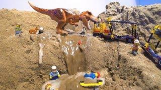 LEGO Dam Breach - LEGO Jurassic Dinosaur Attack