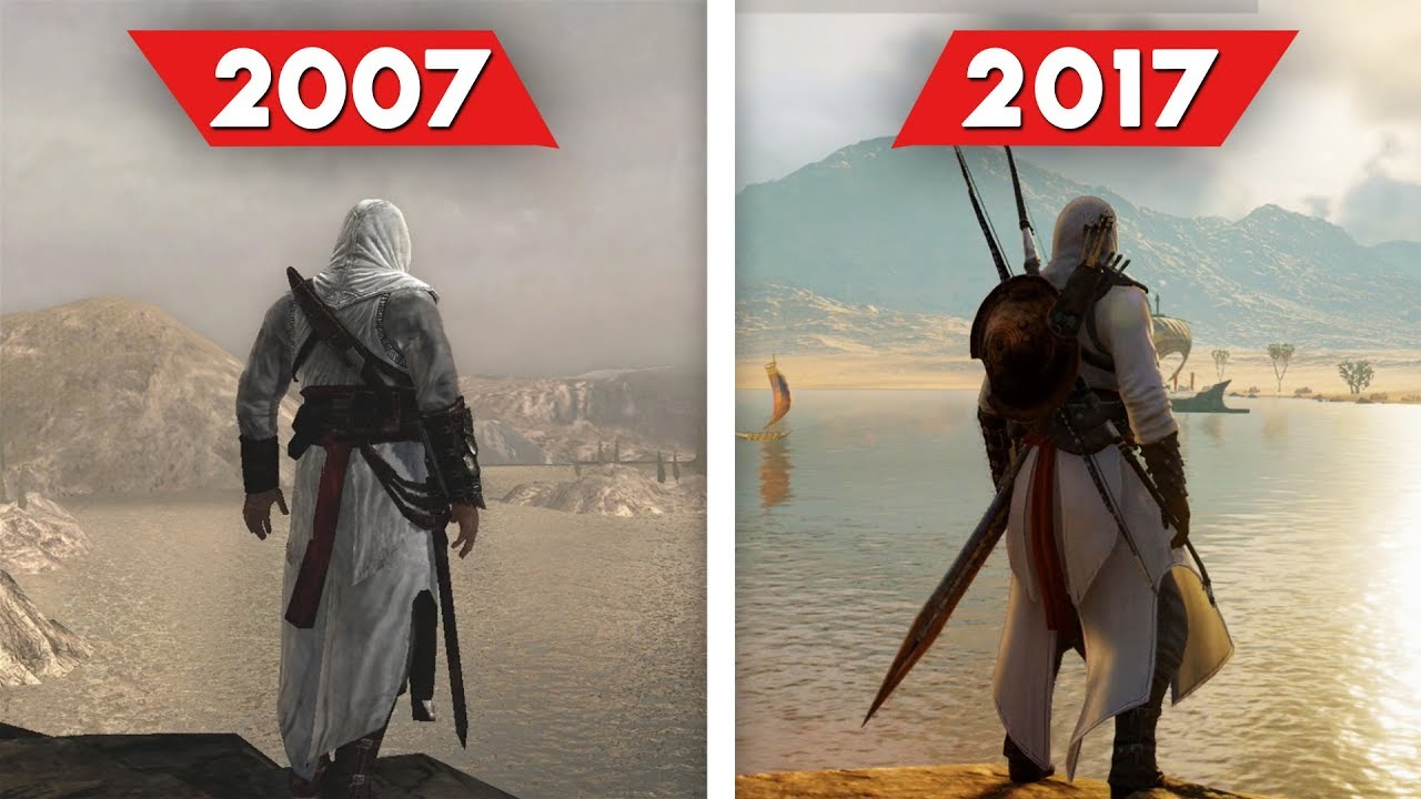 Assassin's Creed Comparison - 2007 vs 2017 (Graphics and ...