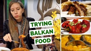 Balkan Food Review - Our first impressions trying Bosnian Food in Ljubljana, Slovenia