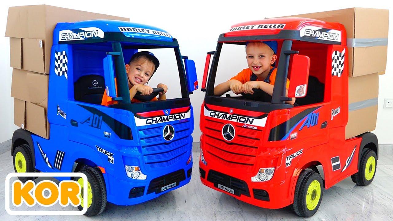 블라드와 니키가 장난감 트럭을 가지고 놀다 | 아이들을위한 컬렉션 비디오